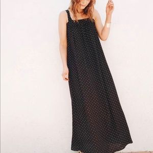 CJLA Carly Jean Black Polka Dot Maxi Dress